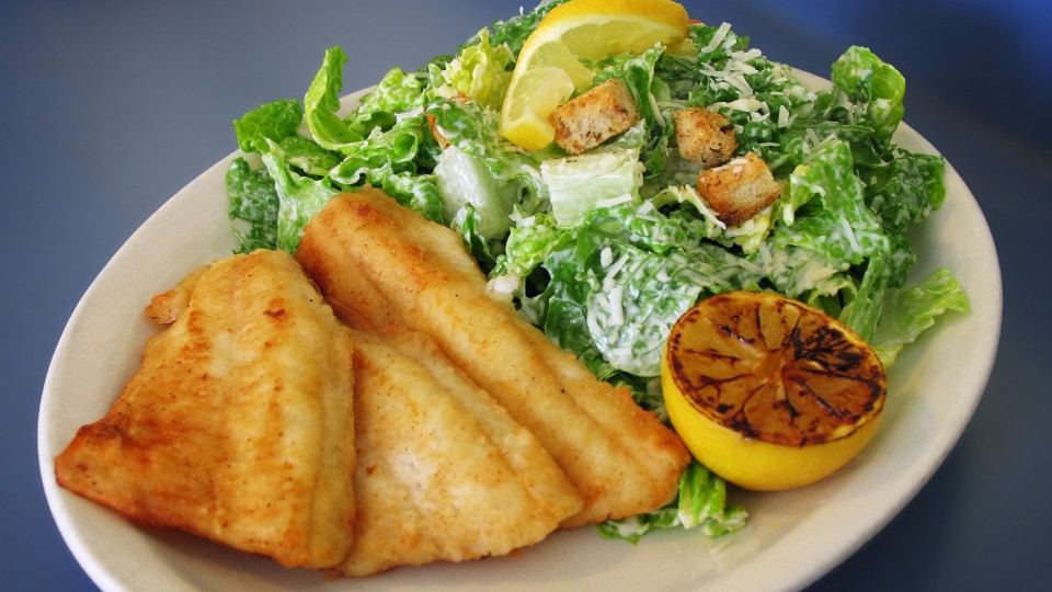 Kris' Fish & Chips, Caesar Salad